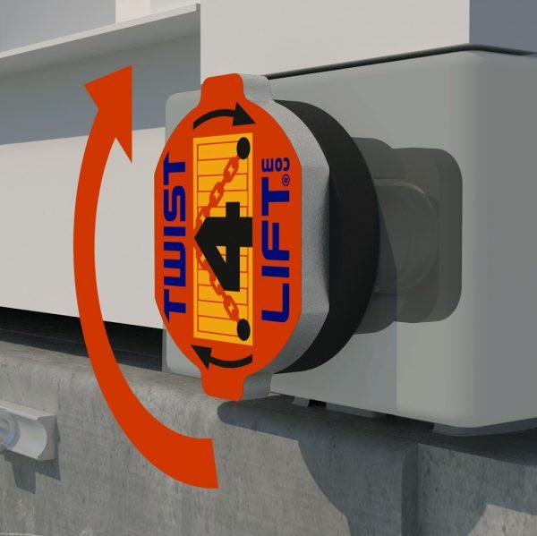 Twist4Lift innovatieve containerhaak - stap 2